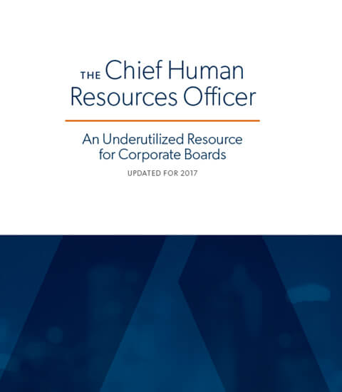 The Chief Human Resources Officer
